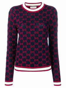 Gucci GG jacquard logo sweater - Blue