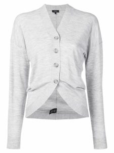 Theory curved hem cardigan - Grey