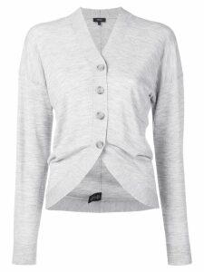 Theory curved hem cardigan - Grey