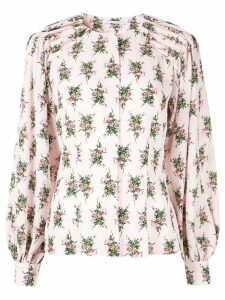 Emilia Wickstead rose print blouse - PINK