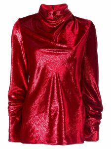 Ellery cowl neck blouse - Red