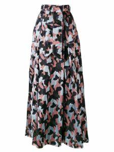Talbot Runhof long belted skirt - PURPLE