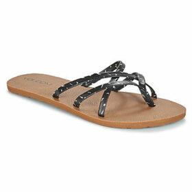 Volcom  NEW SCHOOL  women's Flip flops / Sandals (Shoes) in Black