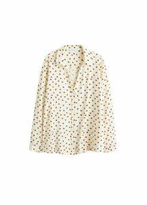 Printed pyjama-style shirt