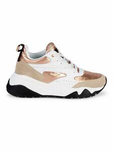Metallic-Accent Chunky Sneakers