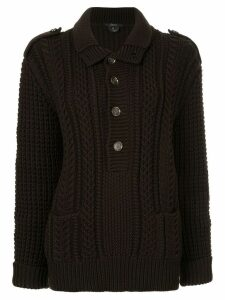 Gucci Pre-Owned cable knit jumper - Black