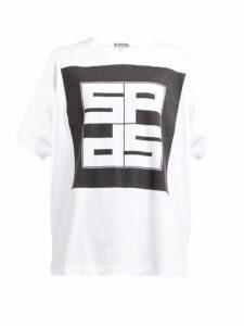 Symonds Pearmain - Logo-print Cotton T-shirt - Womens - White Black