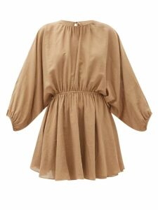 Symonds Pearmain - Tie-neck Denim Shirt - Womens - Navy