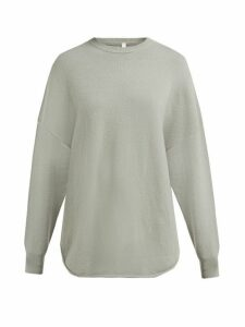 Extreme Cashmere - No. 53 Crew Hop Stretch Cashmere Sweater - Womens - Light Green