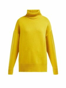 Extreme Cashmere - No. 20 Roll Neck Cashmere Blend Sweater - Womens - Yellow