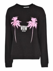 MSGM Palms Print Sweatshirt