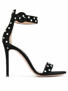Gianvito Rossi pearl embellished stiletto sandals - Black