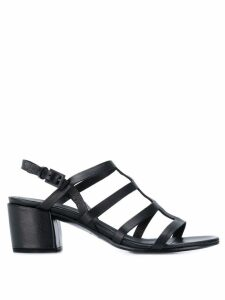 Del Carlo strappy ankle sandals - Black