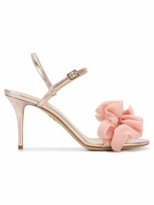 Charlotte Olympia ruffle trim sandals - Pink