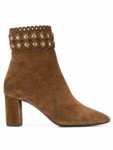 Saint Laurent Lou ankle boots - Brown
