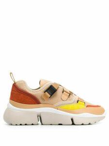 Chloé Sonnie colour block sneakers - NEUTRALS