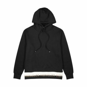 Moncler Black Logo Hooded Cotton Sweatshirt