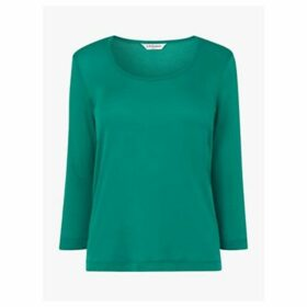 L.K.Bennett Jane Cotton Jersey Top, Green