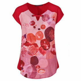 Mado Et Les Autres  IN LOVE printed tunic  women's Blouse in Red