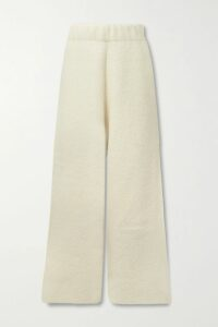 The Row - Pernia Shearling-trimmed Suede Coat - Brown