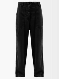 D'ascoli - Samarkand Floral-print Cotton Blouse - Womens - Red Multi