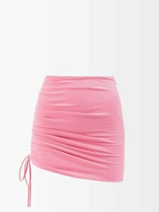 D'ascoli - Samarkand Printed-cotton Blouse - Womens - Yellow Multi