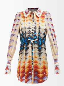 D'ascoli - Tabriz Floral-print Cotton Shirt - Womens - Yellow Print