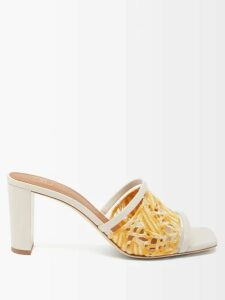 D'ascoli - Tabriz Floral-print Cotton Shirt - Womens - Blue Print