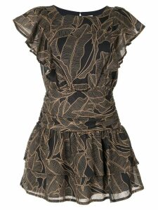 Suboo ruffled mini dress - Black