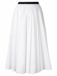 Antonio Marras contrast waistband midi skirt - White