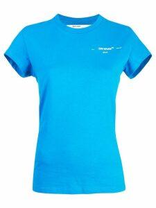 Off-White logo crest T-shirt - Blue