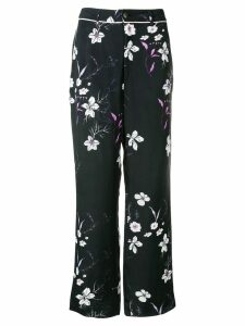 Closed floral print trousers - Black