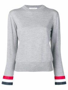 Thom Browne striped cuff jumper - Grey