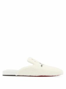 Moncler - Button-trim Ribbed Knit Cotton Sweater - Womens - Dark Green