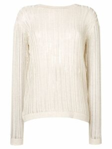 Maison Flaneur ladder knit jumper - Neutrals