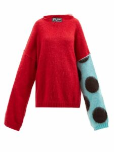 Acne Studios - Fyona Loose Fit Cotton Jersey Sweatshirt - Womens - Pink