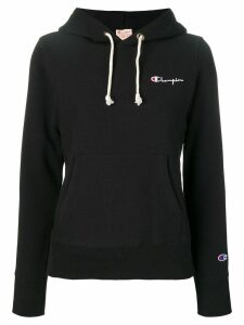 Champion embroidered logo hoodie - Black