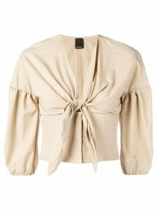 Pinko Caterina front knot blouse - Neutrals
