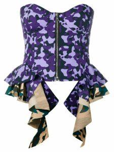 Natasha Zinko camouflage corset top - PURPLE