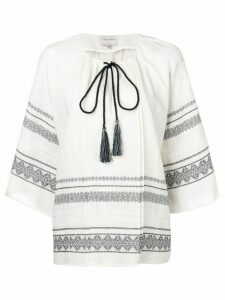 Zeus+Dione Aegina embroidered blouse - White