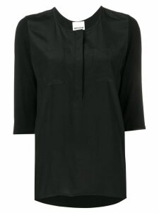 Semicouture straight-fit blouse - Black