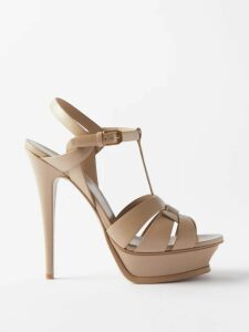 Alexander Mcqueen - Bow Trim Satin Stiletto Sandals - Womens - Black