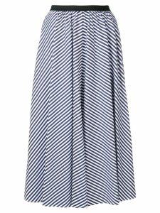 Antonio Marras striped pleated skirt - Blue