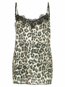 Icons leopard slip top - Black