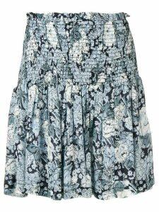 Ganni elasticated waist skirt - Blue