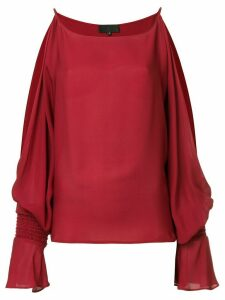 Nili Lotan cut out shoulder top - Red