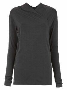 Uma Raquel Davidowicz wrap style Aurora blouse - Grey