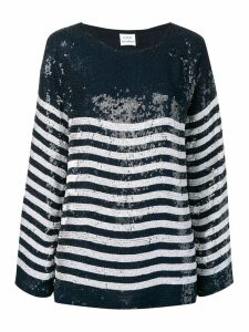 P.A.R.O.S.H. sequinned blouse with stripes - Blue