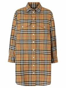 Burberry oversized Vintage check shirt - ANTIQUE YEL IP CHK