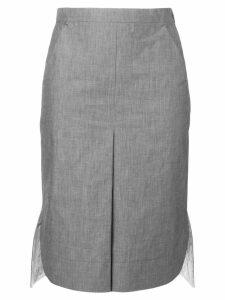 Jil Sander Navy high low hem skirt - Grey